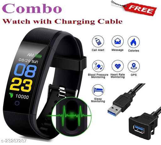 ID115-COMBO Smart Fitness Watch with Charging Cable Free