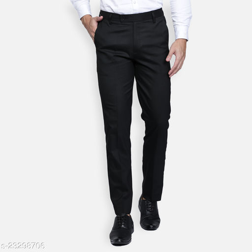 Haul Chic Lycra Blend Smart Trousers