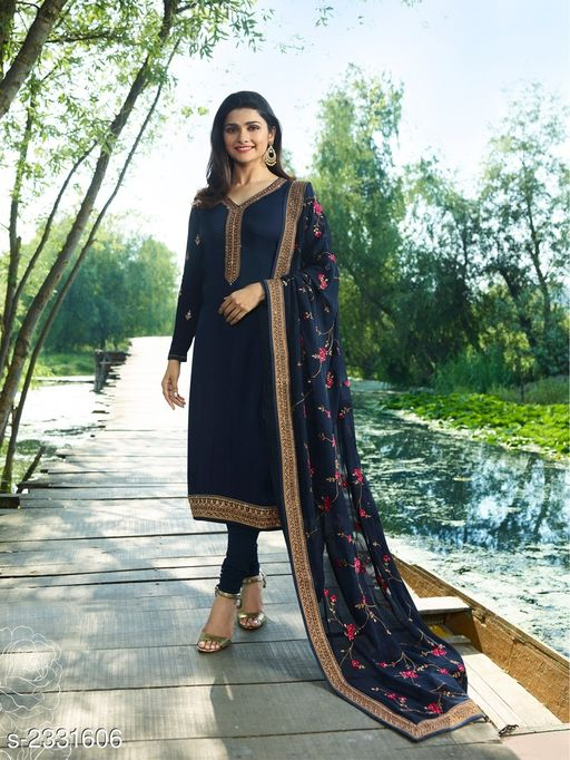 Trendy Satin Georgette Suits & Dress Material
