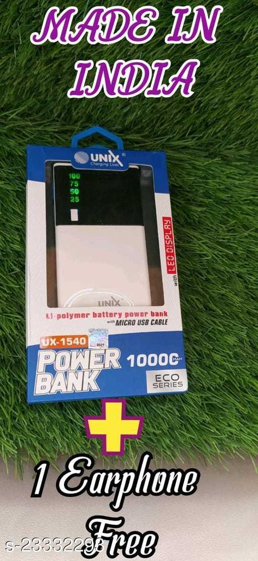 UNIX UX-1540 10000mAh Power Bank Dual USB With Digital Display BEST QUALITY , FAST CHARGING Power Bank