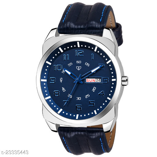 Walrus Ballard Series Blue Dial Men Wristwatch With Day & Date Function