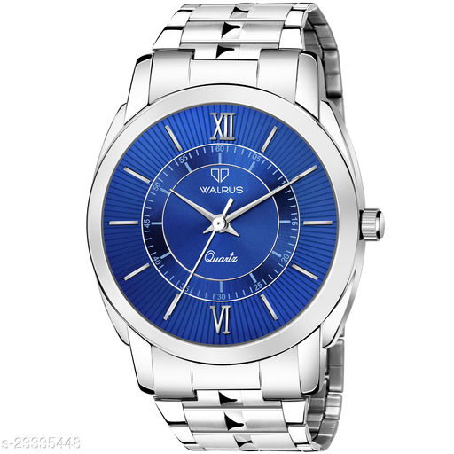 Walrus Polo XIII Series Blue Dial Men's Watch with Metallic Chain