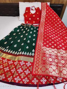 Banarasi brocade Lehnga and ready paded Blouse and Banarasi duppta