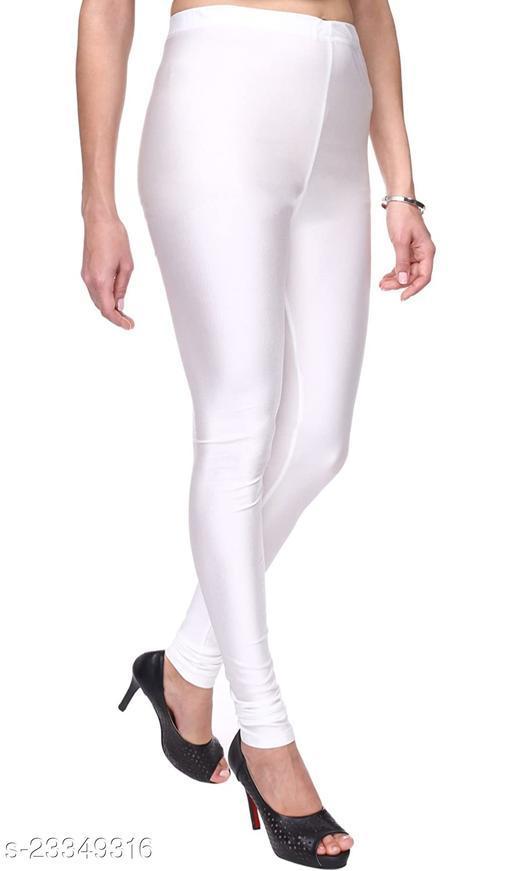 BEST SELLING WOMEN SKINY SHINING LEGGINGS WHITE