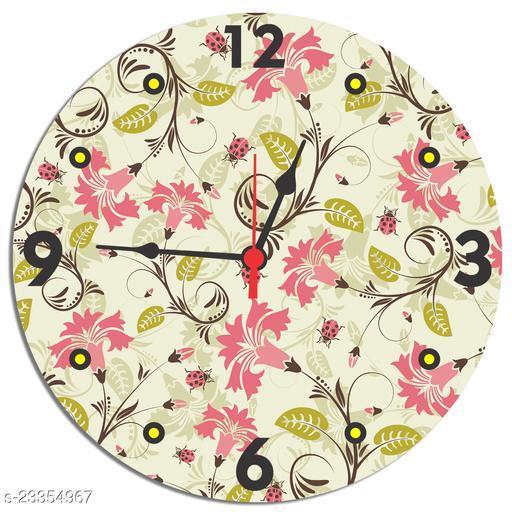 BuyIndia Beautifully Designed Wall Clock for living room, MDF Wood Quartz Wall Clock