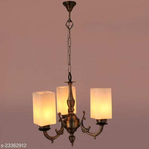 Afast Royal Chandelier Decorate With Chips & Beeds Glass For Magical & Romantic Lighting Effect ,3 Light Ceiling Pandent Lamp