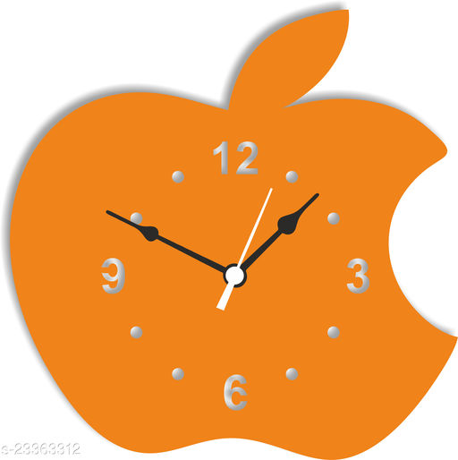 BuyIndia Trending Decorative Wall Clock for living room   Stylish Analog Wall Clock, designer watch , Apple Wall Clock (MDF Wood Quartz Wall Clock For Art lovers  Designer Bedroom Multicolor)