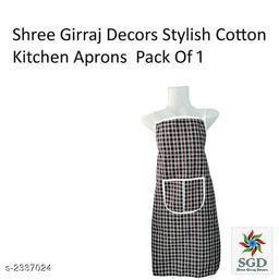 Elegant Cotton Kitchen Apron