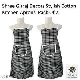 Elegant Cotton Kitchen Apron(Pack Of 2)