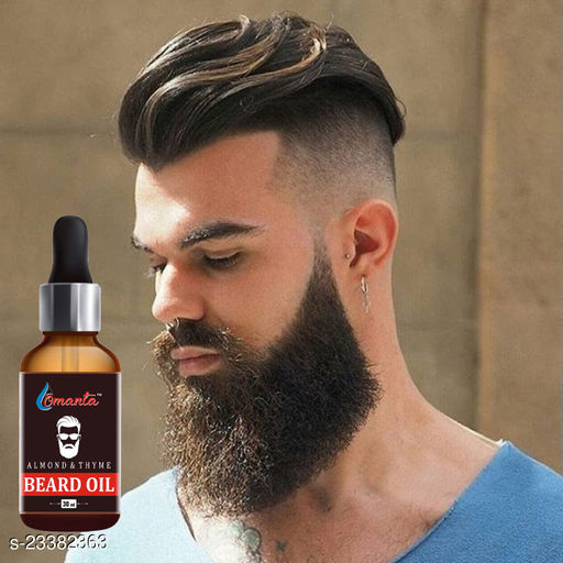 Almond Orgaic Beard Growth Oil for strong and healthy beard growth organic beard oil Hair Oil  (30 ml)