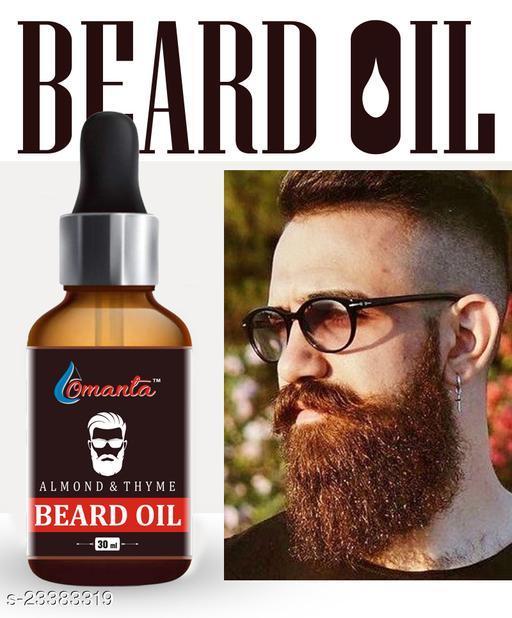 Almond Beard Oil For Men With Beard Growth Oil Hair Oil  (30 ml)