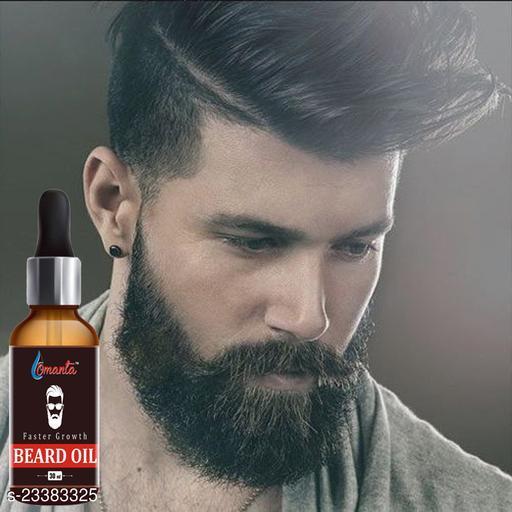 Faster 100% Natural & Oragnic Beard Oil for Nourishment, Shine & Healthy Beard Hair Oil  (30 ml)