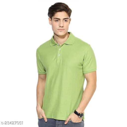 Ansh Fashion Wear Present Summer Wear Polo Neck Tshirt For Men's