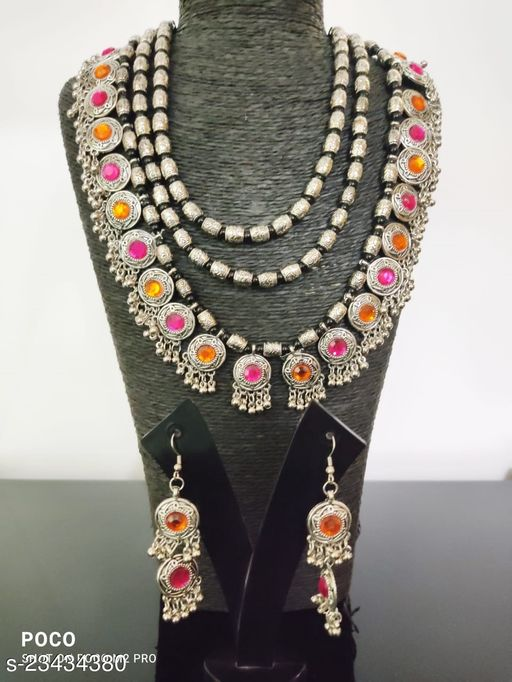 Designer Beautiful Necklace With Earrings Set Premium Quality Stone
