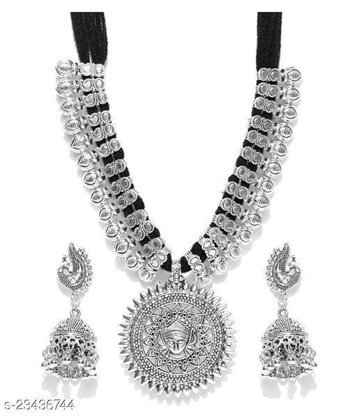 Alloy Black Princess Traditional Necklace set Combo