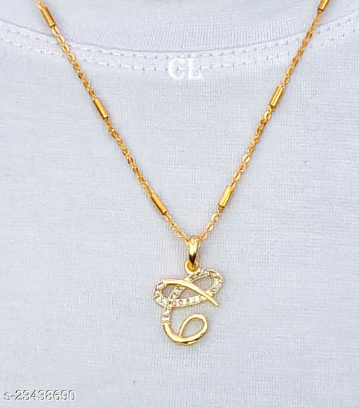 Alphabet Letter C with Gold Chain