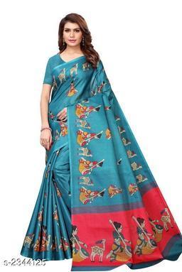 Attractive khadi Saree