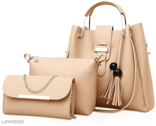 Women PU Leather Hand Bag & Sling bags (Combo of 3)