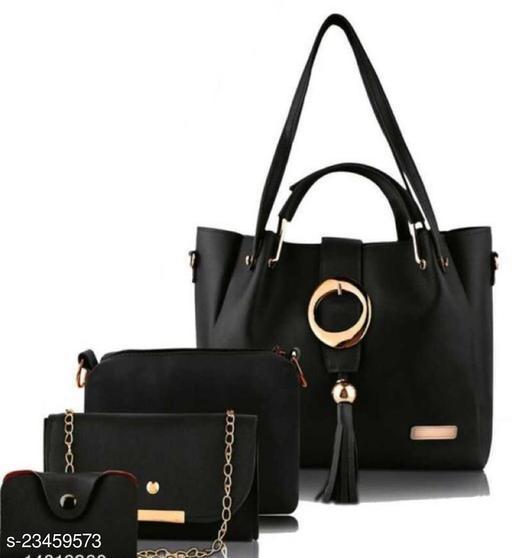 Trendy Women's Black Handbag