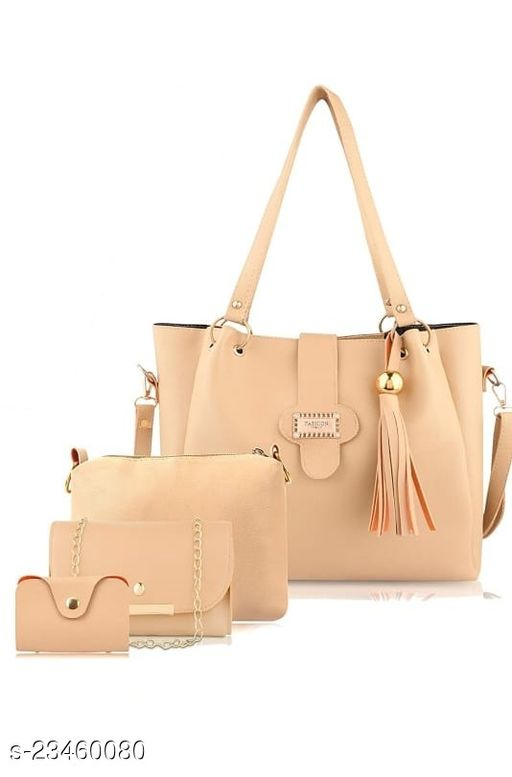 Women PU Leather Hand Bag & Sling bags (Combo of 4)