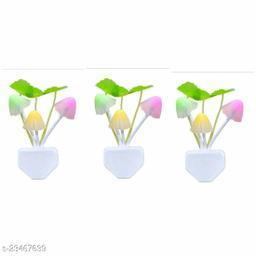 Mushroom Shape LED Magic Night Lamp Automatic Off/On Smart Sensor (Multicolour)