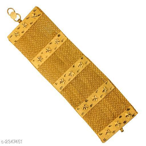 Stylish Men's Golden Brass Bracelet