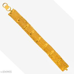 Trendy Men's Yellow Bracelet