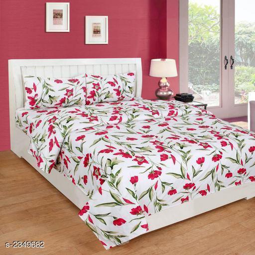 Stylish Poly Cotton Printed Bedsheet