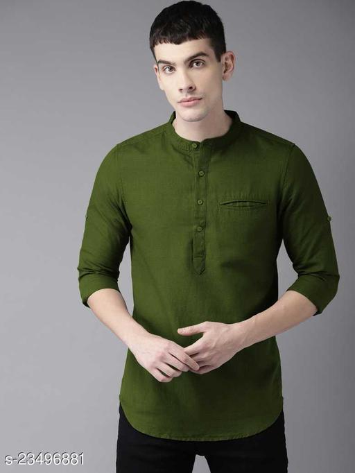Kurta Shirt –Cotton – Green – Tap IN