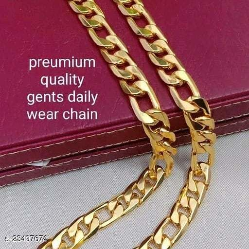 Trendy & Fancy Men & Boys Gold-plated Metal Chain