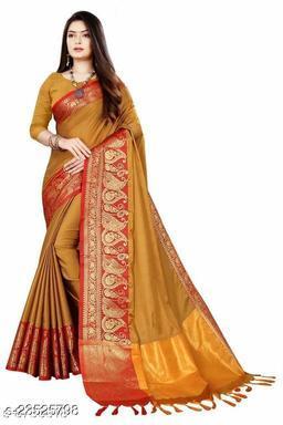 Art Silk Saree With Un-stitched Blouse