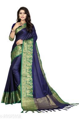 Art Silk Jacquard Silk Saree With Blouse Piece