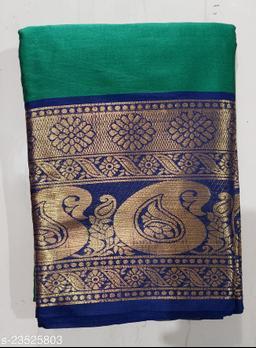 Silk Cotton Saree With Un-stitched Blouse