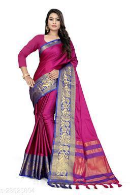 Aura Jacquard Silk Saree With Blouse Piece