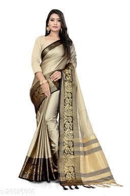 Aura Cotton Saree With Un-stitched Blouse