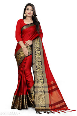 Jaquard Saree with Unstitched Blouse Piece
