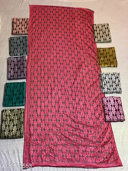 Red  Colored Casual wear Polyster Dying  Dupatta