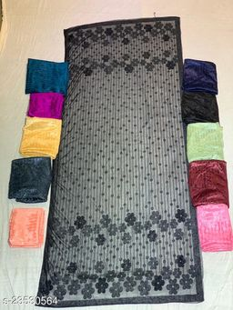 Black  Colored Casual wear Polyster Dying  Dupatta