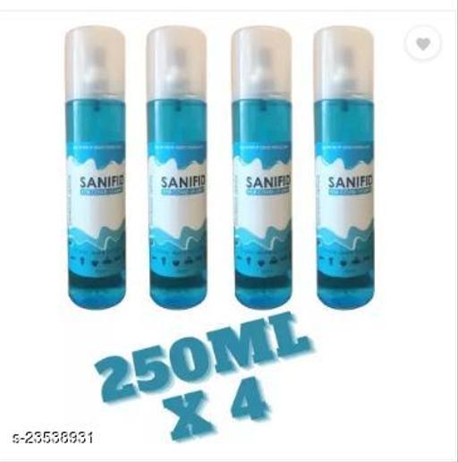 250 ML x 4 aqva blue sanitizer spray combo pack