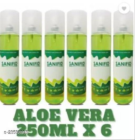 250 ML x 6 Aloevera Green sanitizer spray combo pack