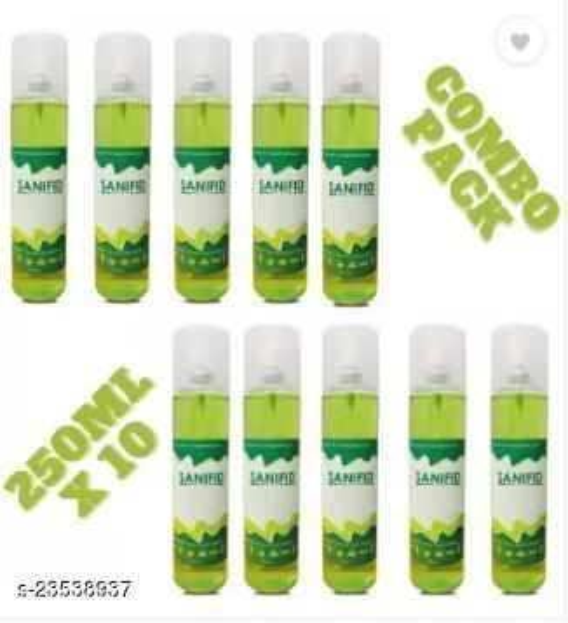 250 ML x 10 Aloevera Green sanitizer spray combo pack