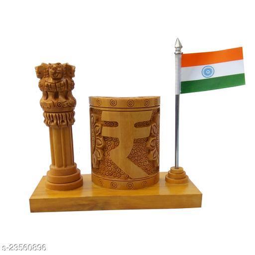 mk handicraft Wooden pen Holder