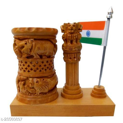 mk handicraft pen Holder with  Ashoka pillar