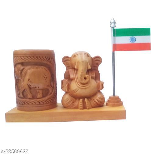 mk handicraft pen Holder With ganesh