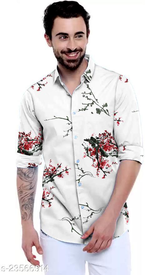 Trendy Men's Digital Printed Shirt