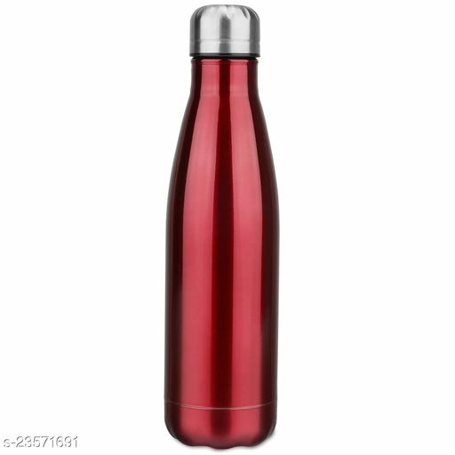 Stainless Steel Double Wall Cola Water Bottle Hot & Cold Upto 4 Hours- Red- 500 ml