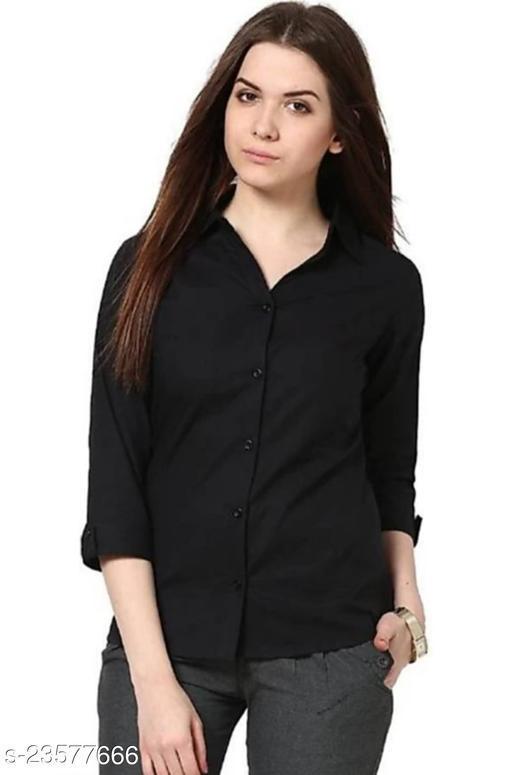 Trendy Women's Black Shirt