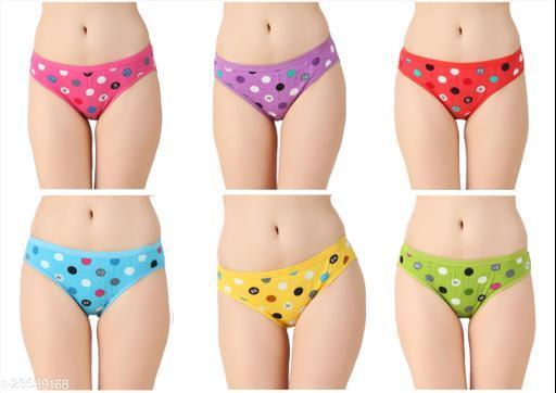 Women Pack of 6 Hipster Panties