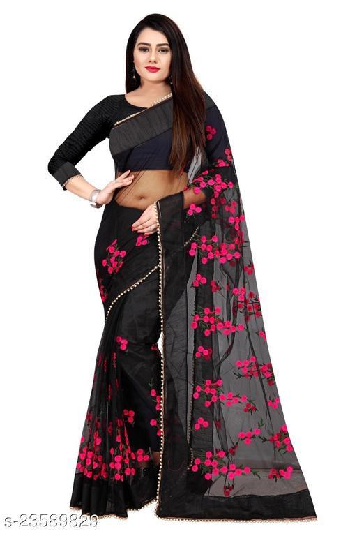 Trendy Bollywood Designe Net  Saree