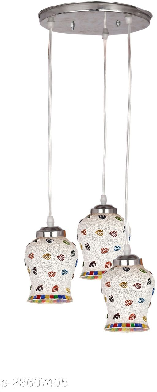Afast Designer Pendant Hanging Ceiling Lamp With Three Hanging Decorative Glass And All Fitting And Fixture